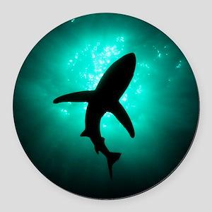 Shark Round Car Magnet
