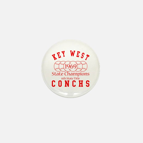 1969 Key West Conchs State Champions. Mini Button
