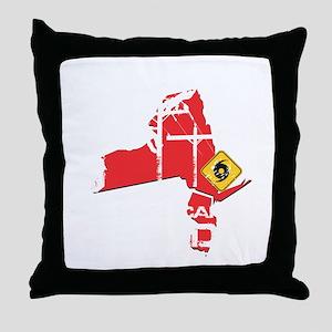 Hurricane Sandy Lineman Throw Pillow