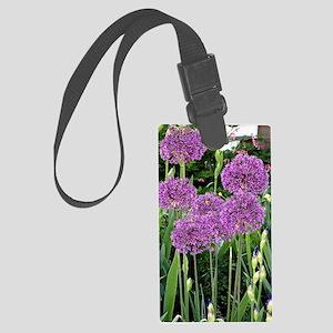 Purple Allium Flowers Large Luggage Tag