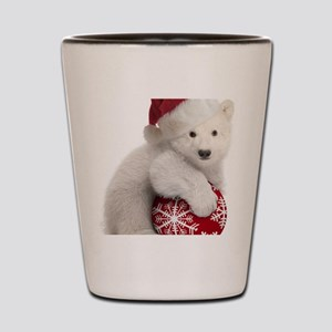 Polar Bear Cub Kids Christmas Shot Glass