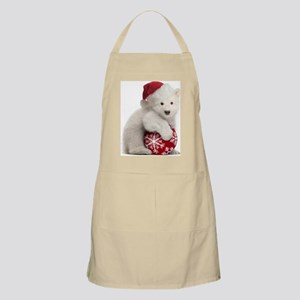 Polar Bear Cub Kids Christmas Apron