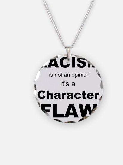 Racism blk Necklace Circle Charm