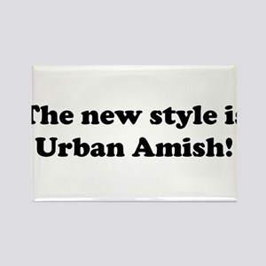 Urban Amish Rectangle Magnet