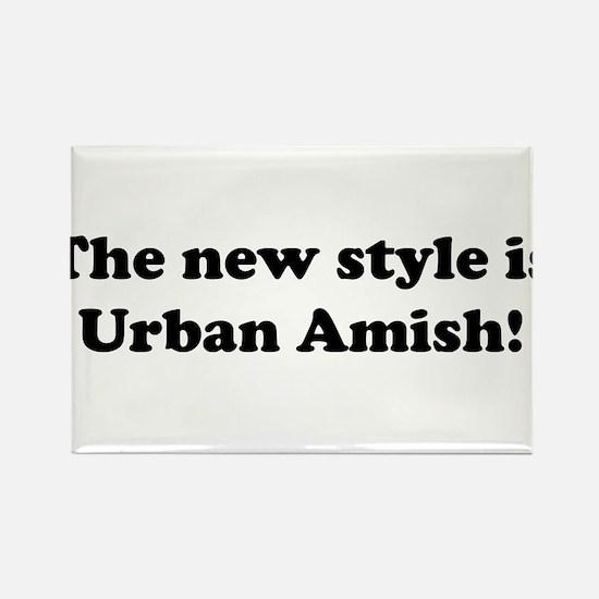Urban Amish Rectangle Magnet