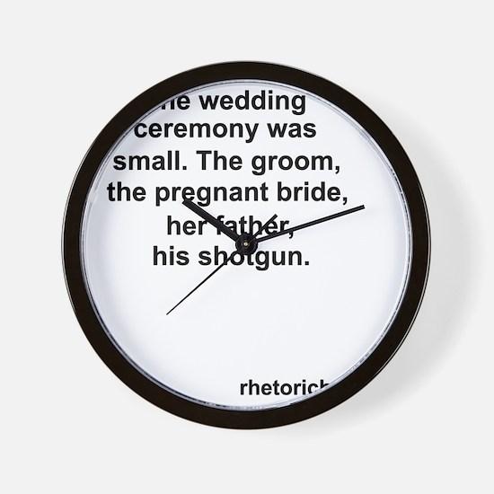 Wedding 4 Wall Clock