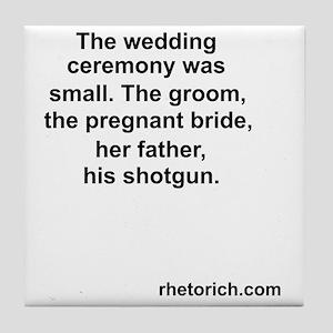 Wedding 4 Tile Coaster