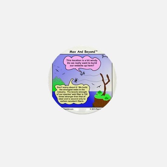 Windy Spider Website Cartoon Mini Button