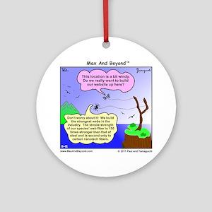 Windy Spider Website Cartoon Round Ornament