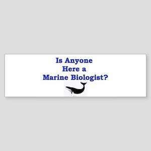 Marine Biologist Bumper Sticker
