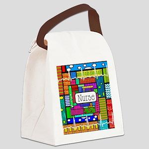 Nurse blanket Canvas Lunch Bag