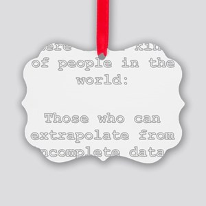 2 Kinds of People - Extrapolation Picture Ornament