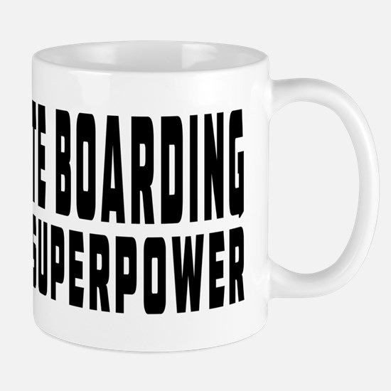 Skate Boarding Is My Superpower Mug