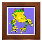 Red Eyed Tree Frog Framed Tile