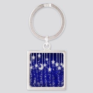 Star Dust Square Keychain