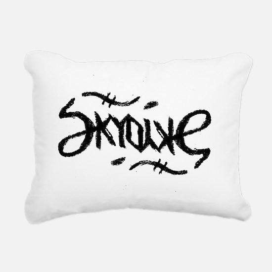 Skydive Ambigram (Black) Rectangular Canvas Pillow