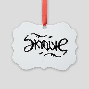 Skydive Ambigram (Black) Picture Ornament
