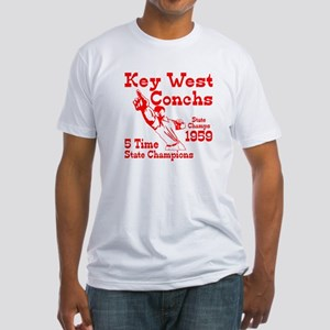 1959 Key West Conchs State Champions Fitted T-Shir