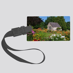 Country Garden Cottage Large Luggage Tag