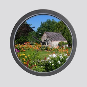 Country Garden Cottage Wall Clock