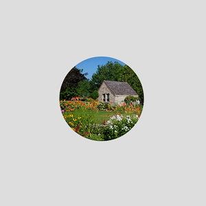 Country Garden Cottage Mini Button