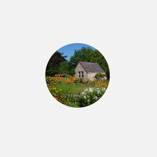 Country Garden Cottage Mini Button