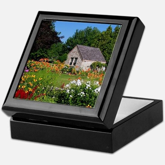 Country Garden Cottage Keepsake Box
