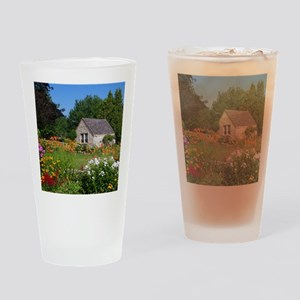 Country Garden Cottage Drinking Glass