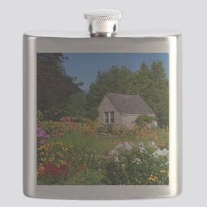 Country Garden Cottage Flask