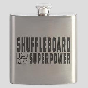 Shuffleboard Is My Superpower Flask