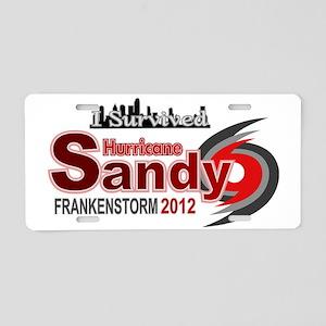 Hurricane Sandy Frankenstor Aluminum License Plate
