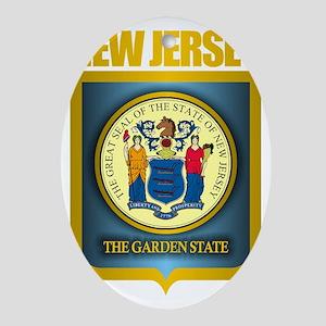 New Jersey Seal (B) Oval Ornament