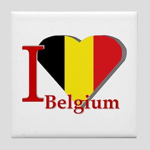 I love Belgium Tile Coaster