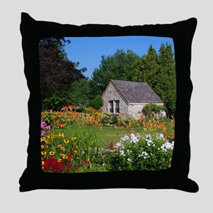 Country Garden Cottage Throw Pillow