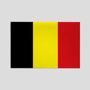 Belgian Flag Rectangle Magnet