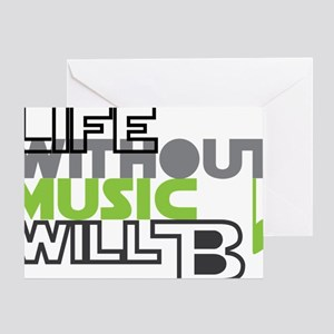 Life without music would b flat greeting cards cafepress b flat greeting card m4hsunfo