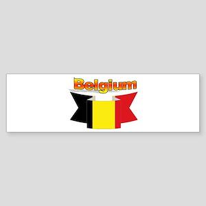 Belgian flag ribbon Sticker (Bumper)