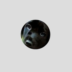 black lab Mini Button