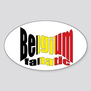 Belgium colors flag Oval Sticker