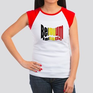 Belgium colors flag Women's Cap Sleeve T-Shirt