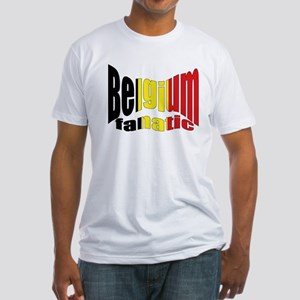 Belgium colors flag Fitted T-Shirt