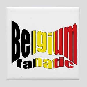 Belgium colors flag Tile Coaster