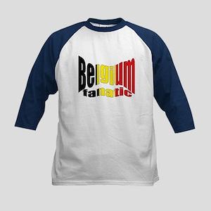 Belgium colors flag Kids Baseball Jersey