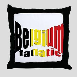 Belgium colors flag Throw Pillow
