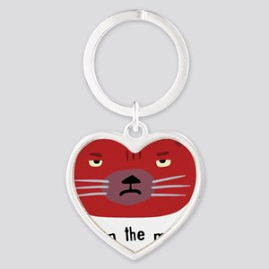 Not in the mood cat Heart Keychain