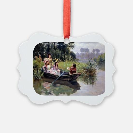 PwrBnk Victorian Boating Scene  P Ornament