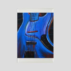 Electric Blue Bass Art Rectangle Magnet
