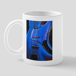 Electric Blue Bass Art Mug
