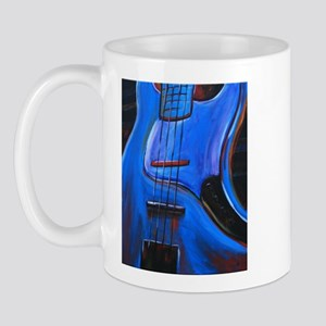 Electric Blue Bass Art Mug