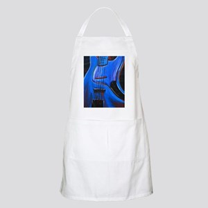 Electric Blue Bass Art BBQ Apron